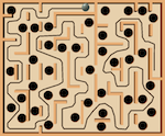 Marble maze test board used to verify Reinforcement Planning method.